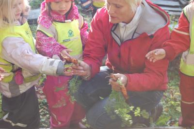 Planteskole for barna